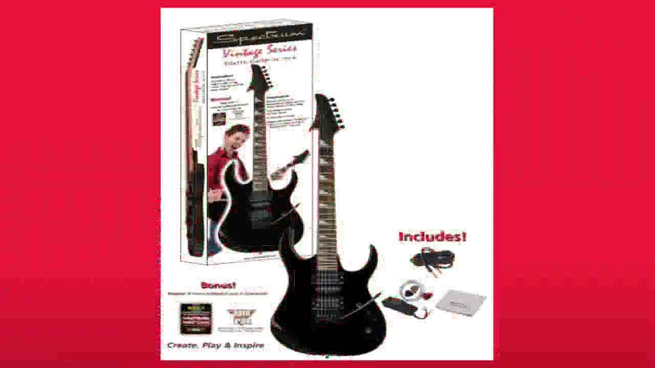 Best buy Electric Guitar  Spectrum AIL 75VB Vintage Series Shark Style Electric Guitar Pack Black