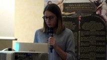 """Conférence """"Dernière journée des droits de l'Homme"""": Catherine Coutelle, Présidente de la Délégation de l'Assemblée Nationale aux droits des femmes et à l'égalité des chances entre les hommes et les femmes."""