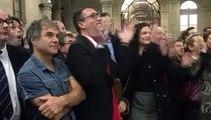 Proclamation des résultats du second tour des élections régionales 2015, à Quimper (Finistère)