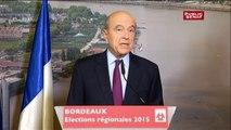 """Régionales/Juppé : """"Il faut  à la France une autre politique économique, une autre politique fiscale, pénale et de sécurité, de santé, d'immigration et d'éducation"""