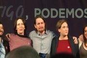Un emocionado Pablo Iglesias finaliza el mitin de Madrid
