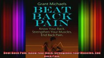 Beat Back Pain Know Your Back Strengthen Your Muscles End Back Pain
