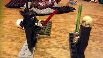 Lego Star Wars stop motion- Luke skywalker vs darth Vader