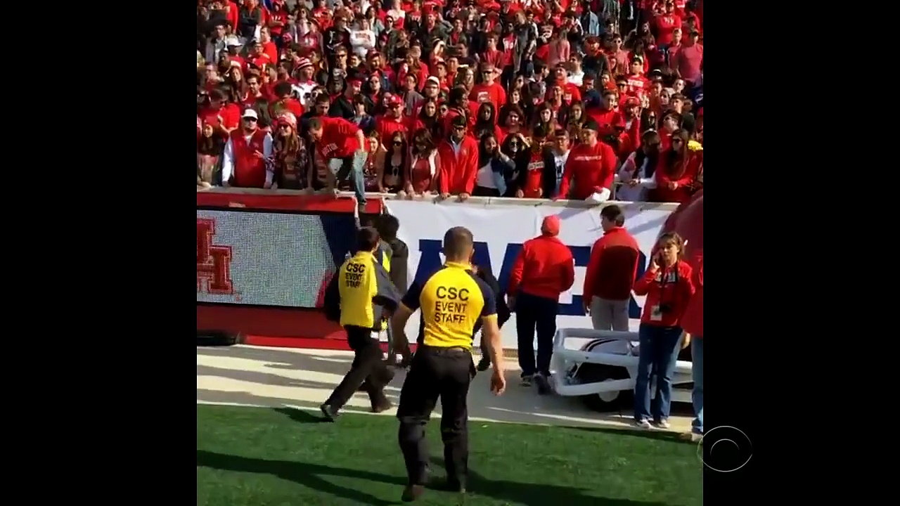 University of Houston football fans tackled, beaten by security guards