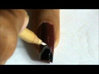 Nail art tutorial with nail polish nail designs ideas for beginners long nails to do at home