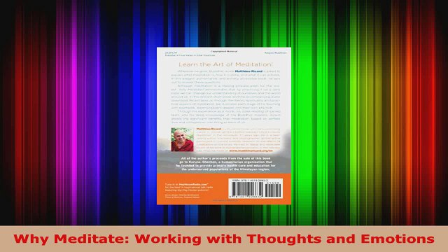 Read  Why Meditate Working with Thoughts and Emotions EBooks Online