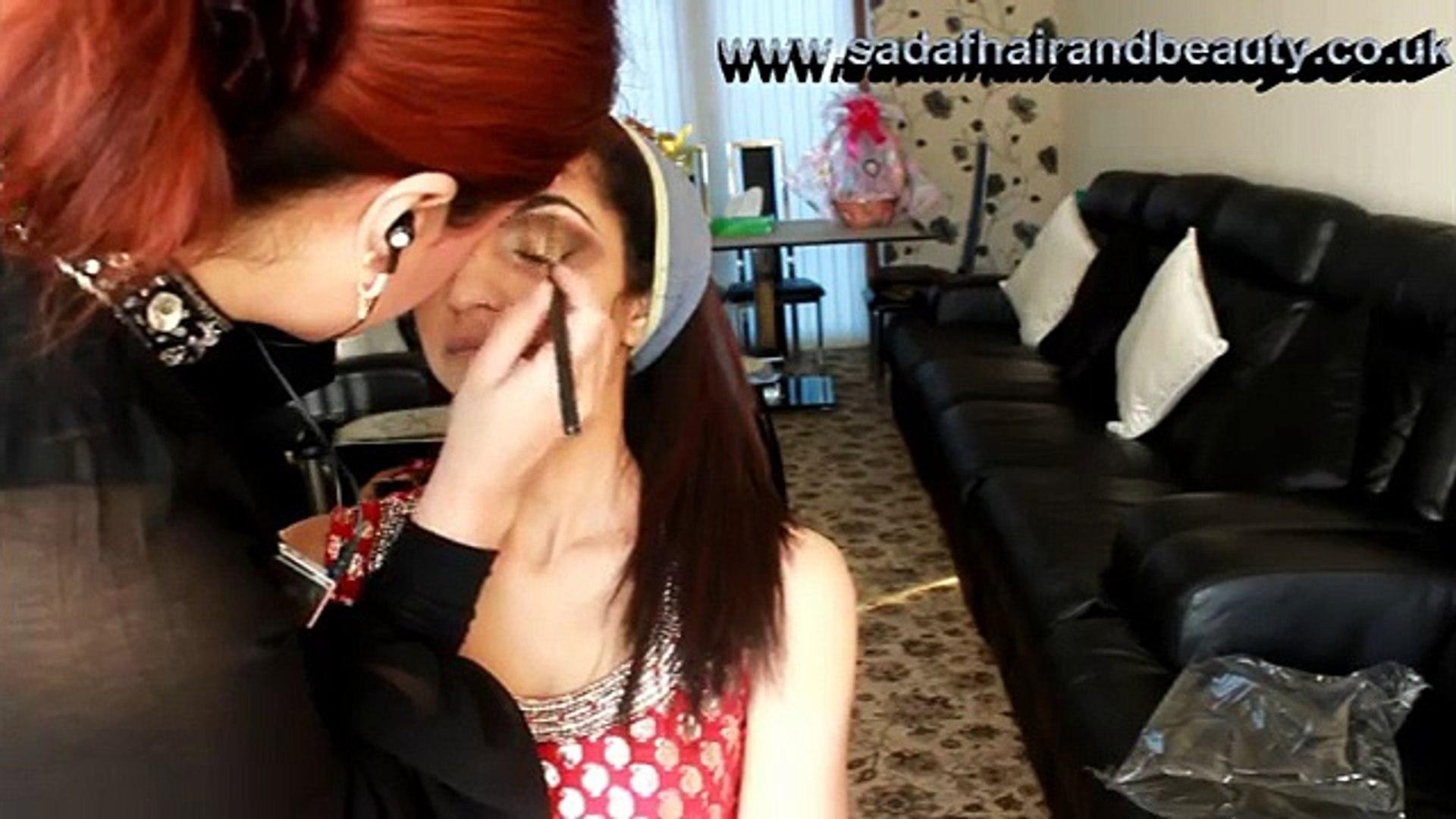 Real Bridal makeup and hair style