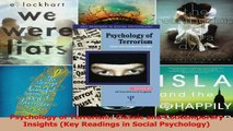 Psychology of Terrorism Classic and Contemporary Insights Key Readings in Social Read Online