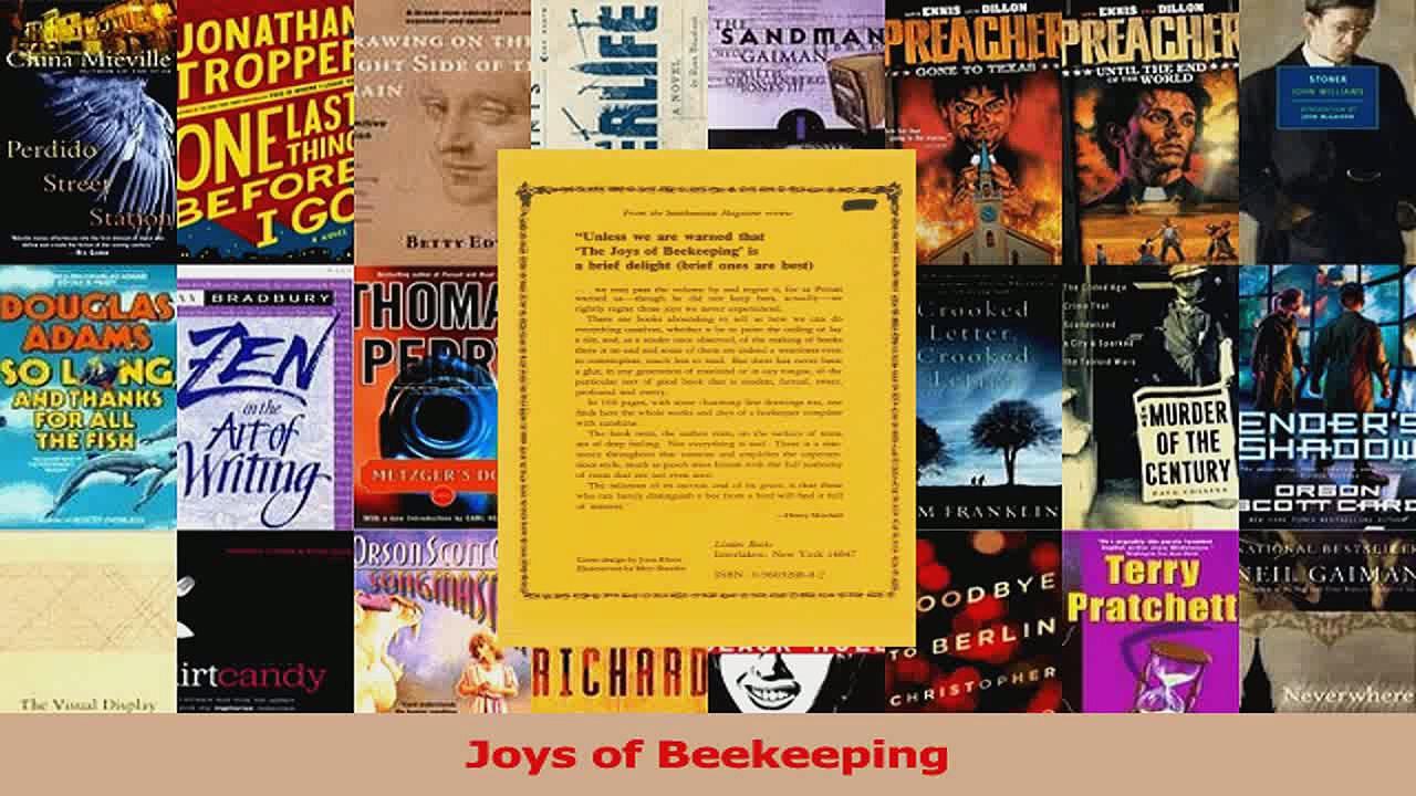 Read  Joys of Beekeeping Ebook Free