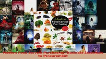 Read  Modern Food Service Purchasing Business Essentials to Procurement PDF Online