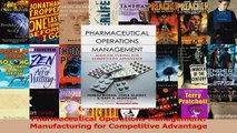 PDF Download Pharmaceutical Operations Management