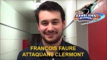 HH 2015-12-05 Hockey D2 - Interview François Faure Attaquant des Sangliers Arvernes Clermont-Ferrand - Clermont _VS_Rouen (CHAR)