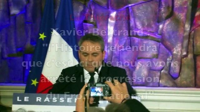 """Xavier Bertrand :   """"c'est ici que nous avons arrêté la progression  du Front National"""""""