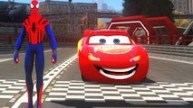 EXTREME MCQUEEN CARS LOOPING ! and Fun with The Amazing Spider Man