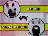 Mad lapins Crétins Lapins Crétins vs Ninja Ninja Lapin Creek