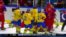 Russia Ice Hockey Players Brutally Beat Sweden Players in Bloody Fight in Sport History 2014