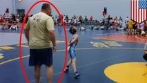 National Duals wrestler's angry father charges mat. Crazy sports dad or not
