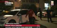 Beşiktaş-Galatasaray maçı öncesi futbolcuların yola çıkış görüntüleri. (14 Aralık 2015- GS TV)
