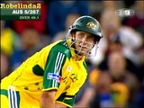Cricket ball hits roof of stadium; Unbelievable. 2005 (1st) time ever