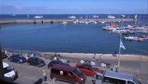 Belle Ile en mer, arrivée de ferry Vindilis au port (Le Palais) Timelapse, Août 2015