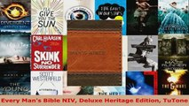 Read  Every Mans Bible NIV Deluxe Heritage Edition TuTone Ebook Free