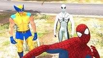 Disney Pixar Cars Spiderman, White Spiderman, Wolverine X Men and Lightning McQueen & Nurs