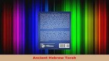 Read  Ancient Hebrew Torah EBooks Online