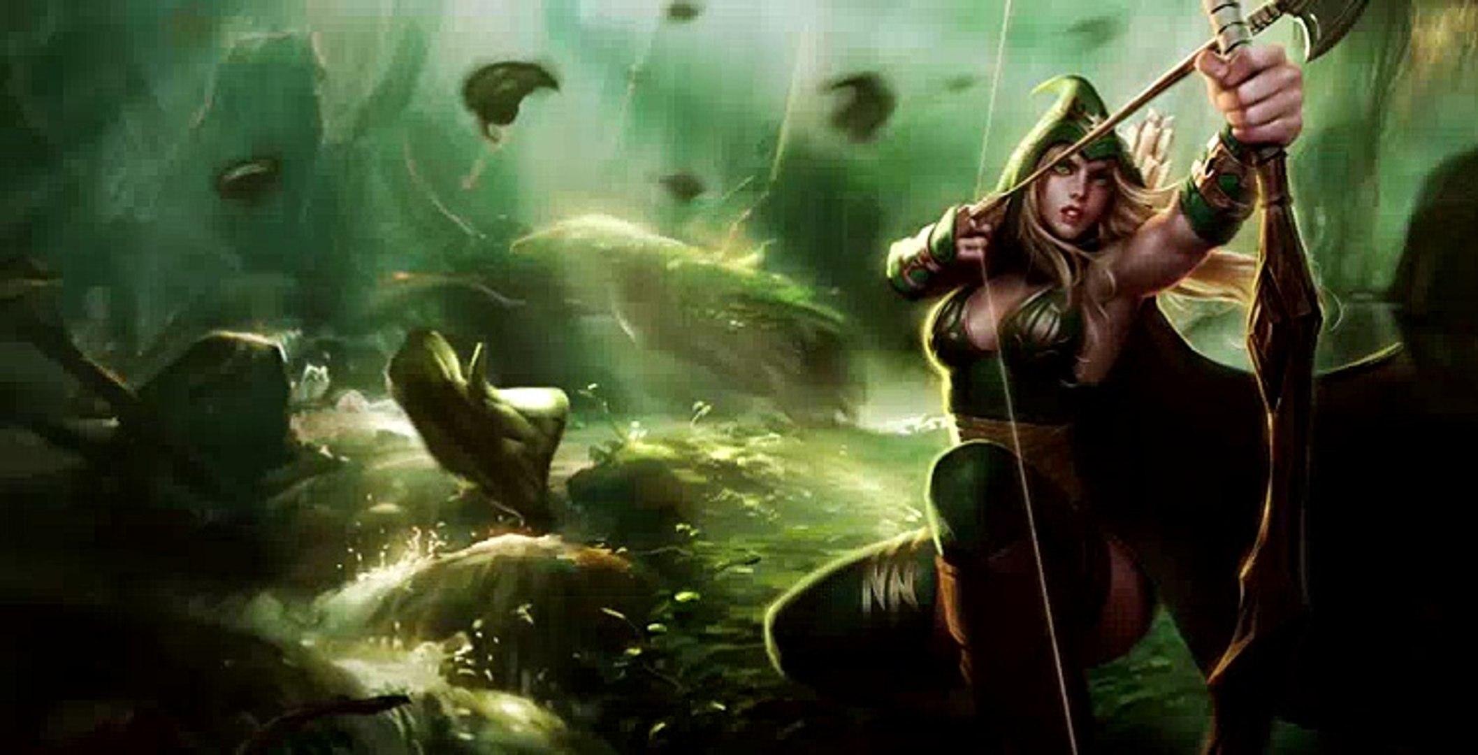 Sherwood Forest (2015 Update) Ashe Skin Spotlight - League of Legends