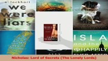 Read  Nicholas Lord of Secrets The Lonely Lords Ebook Free