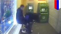 Russian couple uses ATM to make deposits and withdrawals, but not in cash