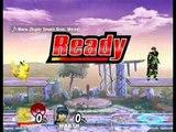 "Pikachu's Directional B Moves for ""Super Smash Bros. Brawl"" on Nintendo Wii"
