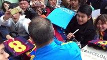 VIDEO. Barca a réalisé la première séance d'entrainement au Japon