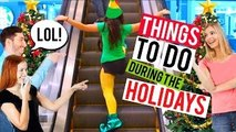 Fun Things to Do When Youre Bored this Christmas!! (Elf SPOOF)   Niki and Gabi