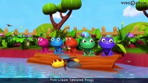 Five Little Speckled Frogs _ 5 Little Speckled Frogs _ 3D Rhymes For Children