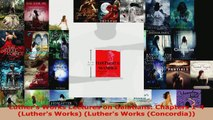 Download  Luthers Works Lectures on Galatians Chapters 14 Luthers Works Luthers Works EBooks Online