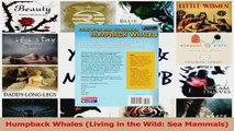 PDF Download  Humpback Whales Living in the Wild Sea Mammals Read Full Ebook