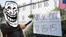 Hoax threat makes LA close schools, while New York keeps them open