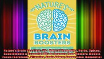 Natures Brain Boosters 50 Natural Remedies Herbs Spices Supplements  Essential Oils to
