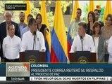 Rafael Correa: La paz en Colombia será la alegría más grande en AL