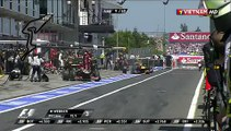 Les images du cameraman heurté par un pneu lors du Grand Prix d'Allemagne de F1