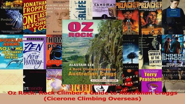 PDF Download  Oz Rock Rock Climbers Guide to Australian Craggs Cicerone Climbing Overseas Read Full Ebook