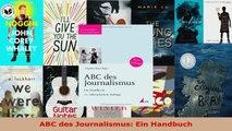 Lesen  ABC des Journalismus Ein Handbuch Ebook Frei