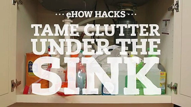 Tame Clutter Under the Sink