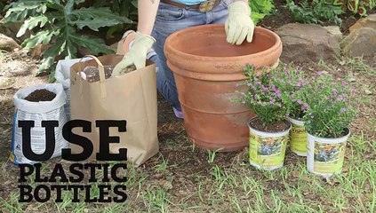 Soil-Saving Trick for Deep Pots