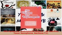 PDF Download  500 Hymns for Instruments Book A  Bb Clarinet Tenor Saxophone Baritone TC Read Online
