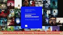 Download  Handbuch Messemanagement Planung Durchführung und Kontrolle von Messen Kongressen und PDF Frei
