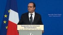 Discours lors de l'inauguration du monument des fraternisations à Neuville-Saint-Vaast