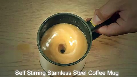 Stainless Steel Self Stirring Coffee Mug