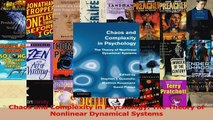 Chaos and Complexity in Psychology The Theory of Nonlinear Dynamical Systems PDF