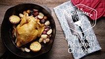 High Heat Roasted Chicken